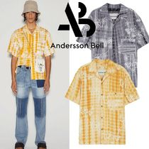 ★ANDERSSON BELL★TIE-DYED EMBROIDERY OPEN COLLAR SHIRT