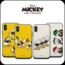 [DISNEY] MICKEY&FRIENDS ミラー付き&カード マルチ IPHONE CASE