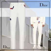21AW新作*DIOR AND KENNY SCHARFスリムフィットジーンズホワイト