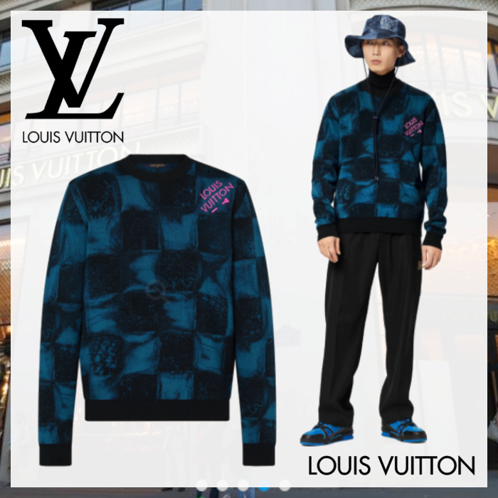21PreFall☆ルイヴィトン☆ダミエソルトクルーネック (Louis Vuitton/スウェット・トレーナー) 1A8XD6  1A8XD7  1A8XD8