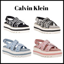 Calvin Klein☆Cove Sporty Strappy ウェッジサンダル ロゴ 4色
