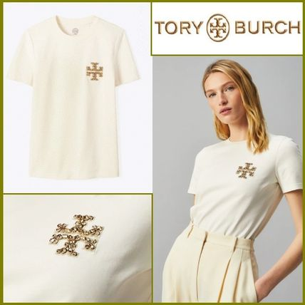 Tory Burch BEJEWELED ロゴ Tシャツ
