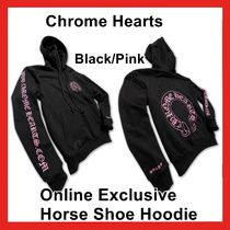 Chrome Hearts Online Exclusive Horse Shoe Hoodie Black Pink