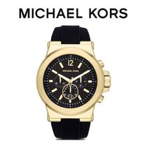 【MICHAEL KORS】腕時計 Oversized Gold-Tone and SiliconeWatch