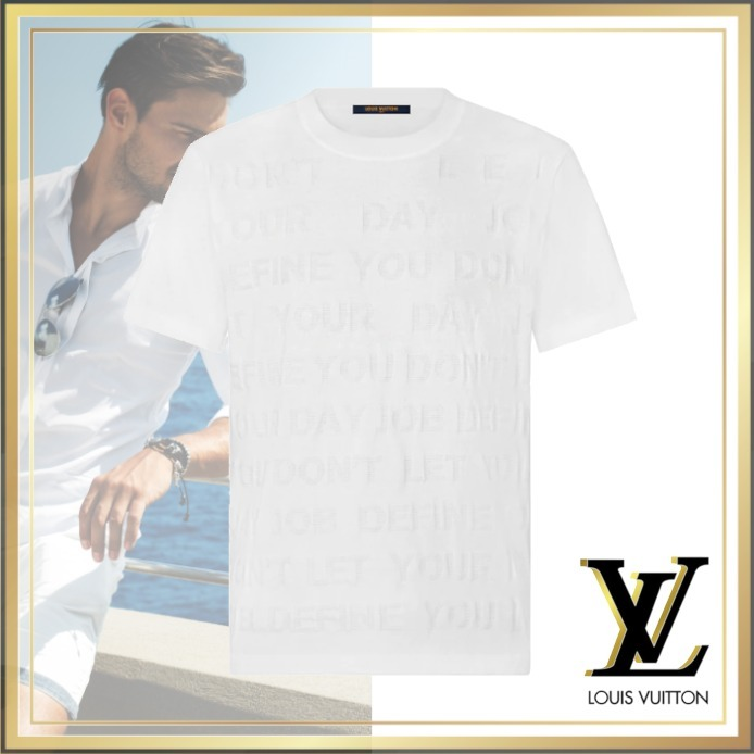 21AW 新作 Louis Vuitton レター Tシャツ コットン シルク 白 (Louis Vuitton/Tシャツ・カットソー) 1A8WW9
