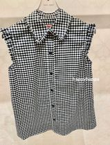 【kate spade】サイズ豊富*mini gingham sleeveless top*
