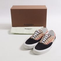 BURBERRY::Vintage Check Cotton and Suede Sneaker:43[RESALE]