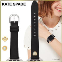★APPLE WATCH★KATE SPADE BLACK LEATHER BAND 38/40MM