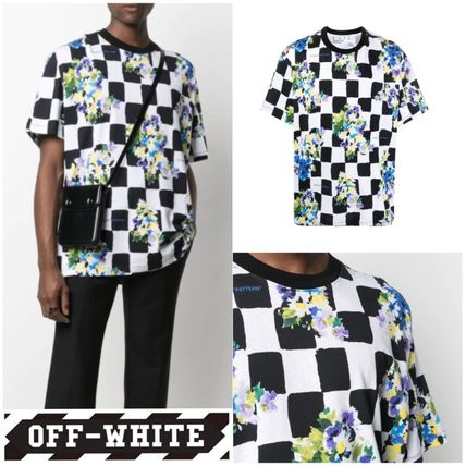 【OFF-WHITE】VIP価格で関送込★CHECK FLOWERS Tシャツ