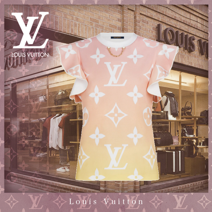 21SS【直営買付】Louis Vuitton フラウンス スリーブ Tシャツ (Louis Vuitton/Tシャツ・カットソー) 1A8TL6  1A8TL7  1A8TL8