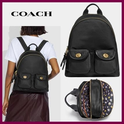 【COACH】Cargo Carrie Backpack With Vintage Rose Print☆