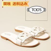【TODS】Tod's flat sandal with leather chain