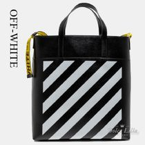 OFF-WHITE Logo - Tape Detail Tote Bag Black