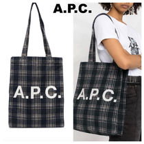 A.P.C.(アーペーセー) トートバッグ 大人気新作!A.P.C. LOU ロゴトートバック 関税込国内発
