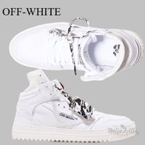 OFF-WHITE Off-Court High-Top Canvas White