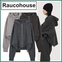 【Raucohouse】Pigment Washed Cutting Hood Zip-up★3色