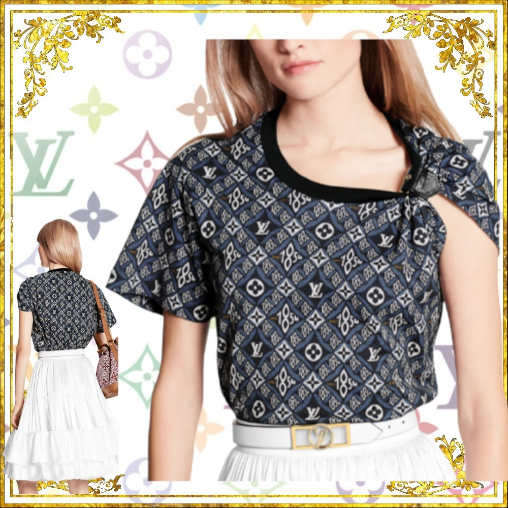 LOUIS VUITTON 直営店 SINCE 1854 バックルディテール Tシャツ (Louis Vuitton/Tシャツ・カットソー) 68527468