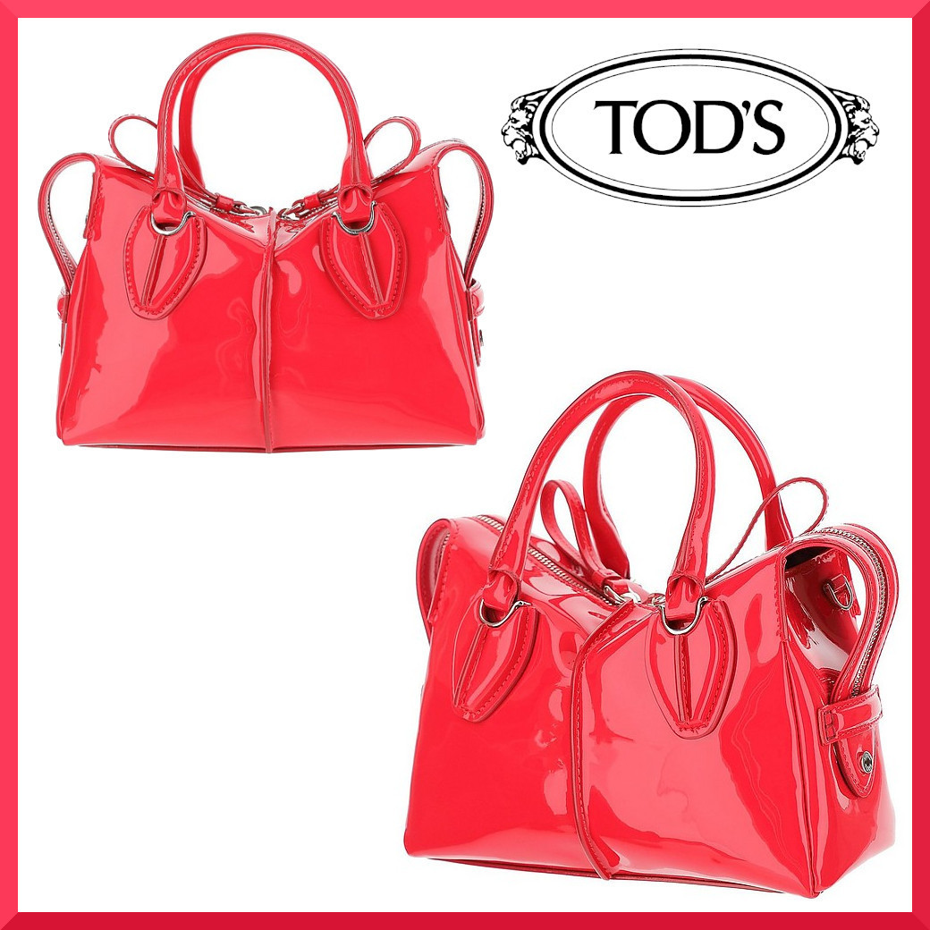 【TOD'S】Bright Red Patent Leather Small DStyling Bag バッグ (TOD'S/ハンドバッグ) TD130320-005-00