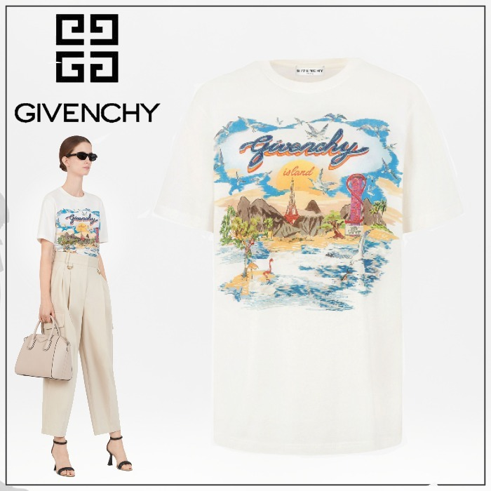 GIVENCHY◆直営買付 ジバンシィアイランド ラージ Tシャツ ロゴ (GIVENCHY/Tシャツ・カットソー) 68530266