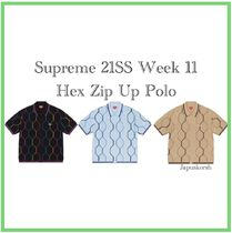 21 SS Supreme Hex Zip Up Polo Week11
