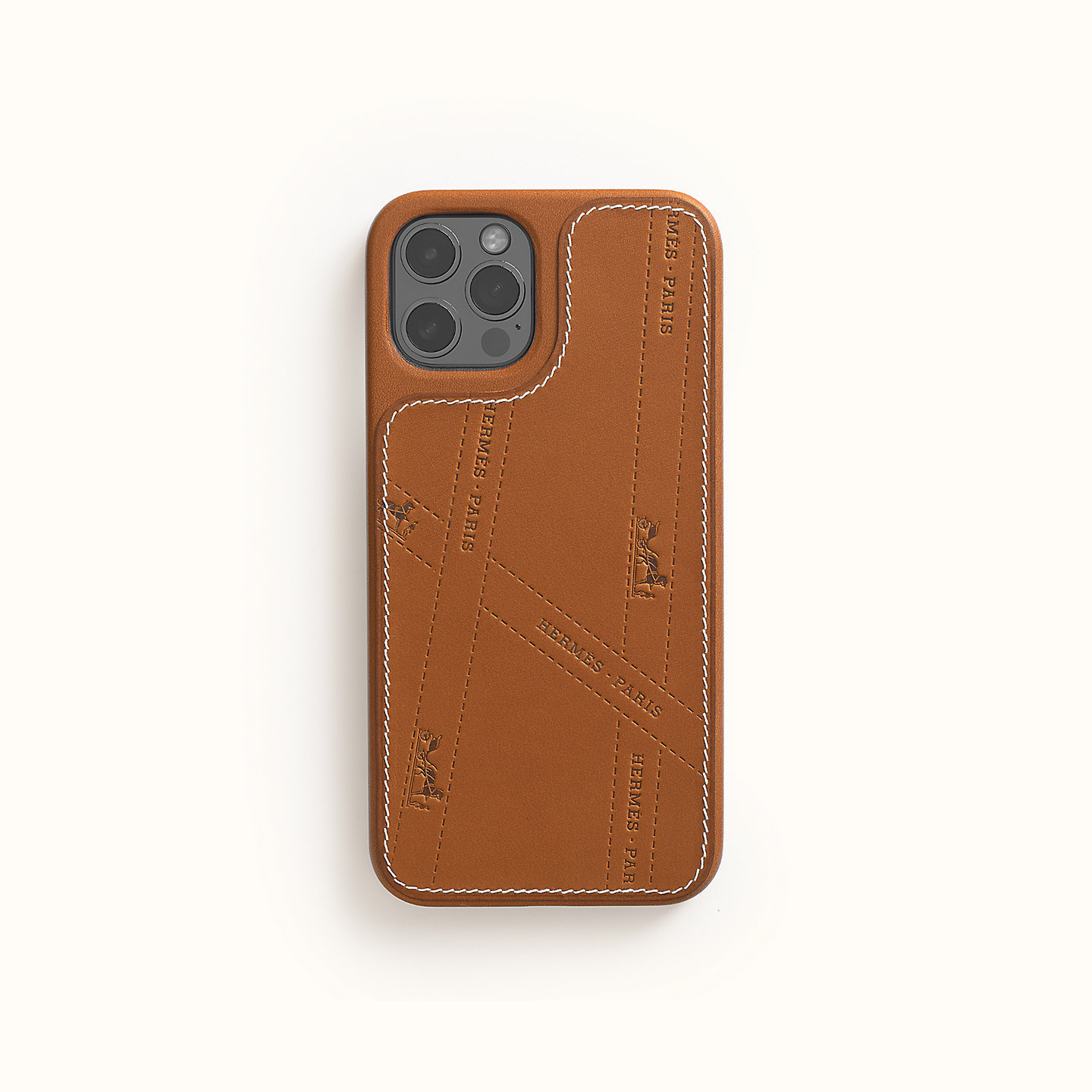 HERMES iPhone12/12 Pro ボルデュック柄 本革 スマホケース (HERMES/iPhone・スマホケース) H0007441A34