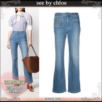 21SS☆送料込【see by chloe】 クロップ丈 ストレートジーンズ