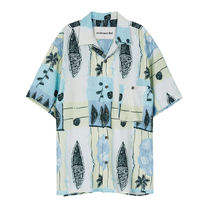 ☆Andersson Bell FISH FLOWER OPEN COLLAR SHIRT WHE 国内発送
