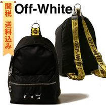 【OFF WHITE】 backpack in technical fabric with print