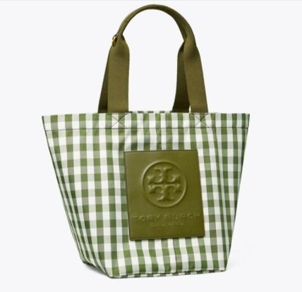 PIPER GINGHAM SMALL SQUARE TOTE BAG