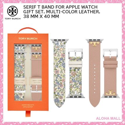 【Tory Burch】SERIF T BAND FOR APPLE WATCH GIFT SET♪38/40mm