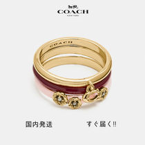 COACH ☆国内発送☆ ピンク ティー ローズ リング セット