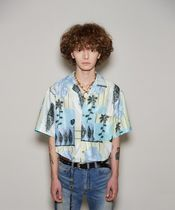 ANDERSSON BELL FISH FLOWER OPEN COLLAR SHIRT atb531m