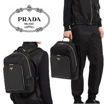 2021SS[PRADA]Re-Nylon and leather backpack★バックパック