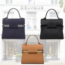 DELVAUX Tempete PM クリスピー カーフレザー ハンドバッグ