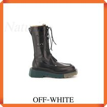 Off-white Sponge Pocket Combat Boots