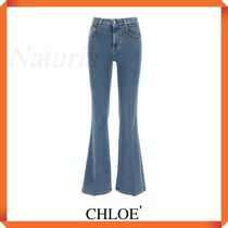 Chloe' Flared Jeans With Lasered Logo