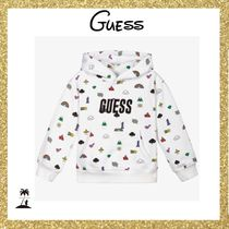 Guess(ゲス) キッズ用トップス ★GUESS★Boys & Girls コットンロゴパーカー/White