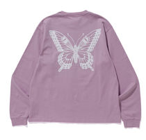 Girls Don't Cry ロンT BUTTERFLY LONG SLEEVE TEE LAVENDER