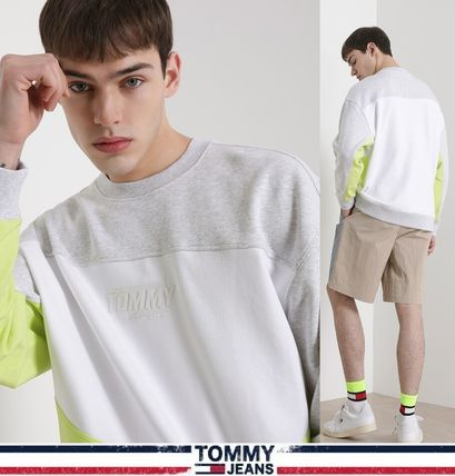 Tommy Hilfiger スウェット・トレーナー TOMMY JEANS★正規品★Color Block トレーナー/安心追跡付