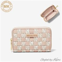 MICHAEL KORS Small Woven and Logo Wallet●国内発送OK●