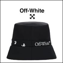 【 OFF-WHITE  】ロゴ バケット ハット