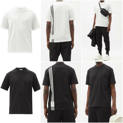 [Y-3] Three-stripe logo-patch cotton T-shirt (送料関税込み)