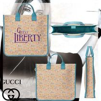 【GUCCI】大人もOK★大人気GUCCI LIBERTY プリント トートバッグ