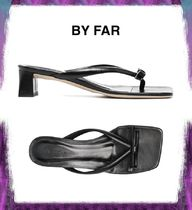 【BY FAR】bow-embellished low-heel sandals