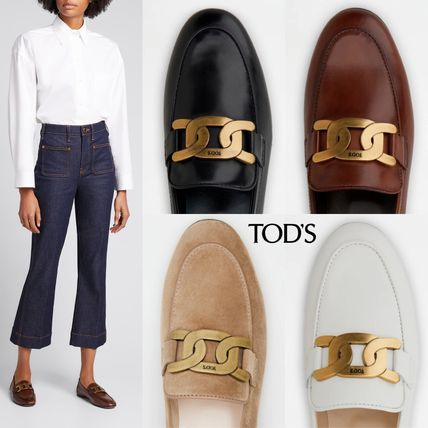 TOD'S ローファー・オックスフォード 直営 関税込 TOD'S Kate Loafers in Leather