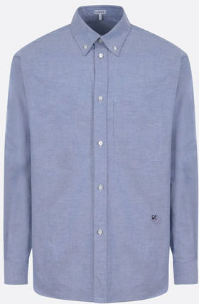 LOEWE★ss21/ANAGRAM EMBROIDERED COTTON SHIRT