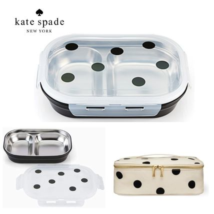 【KATE SPADE】ドット柄 Lunch Box &ケースセット☆