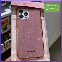 【kate spade】 glitter antimicrobial iPhone12♪各種対応★