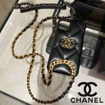 iPhone11用♪【CHANEL】IPHONEケース★チェーン