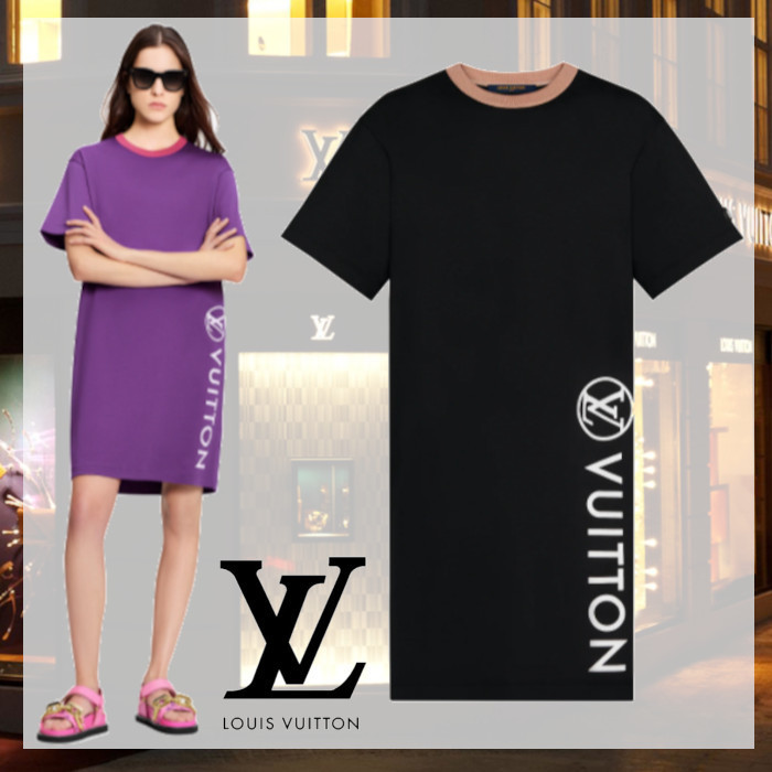 SS 新作 ルイヴィトン VUITTAMINES Tシャツドレス ワンピース (Louis Vuitton/ワンピース) 1A92OF
